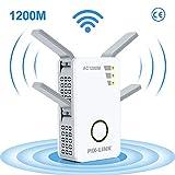 Repetidor WiFi, AC 1200Mbps Extensor WiFi, Amplificador Wifi Doble Banda 2.4GHz y 5GHz con Repertidor / Router / WPS / AP / Cliente Modo