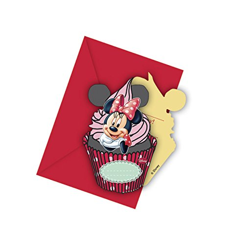 Disney party-uitnodigingen Minnie Mouse (in het Engels), 6 stuks