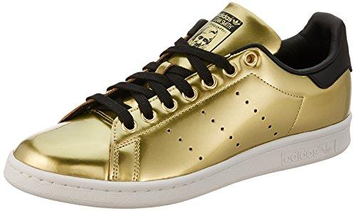 Adidas Damen Stan Smith Sneaker , Vergoldet (Gold Met. / Gold Met. / Core Black) , 36 2/3 EU