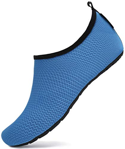 SAGUARO Niños Niñas Zapatos de Agua Mar y Deportes Acuáticos Secado Rápido Natación Zapatos Zapatillas de Agua de Playa Surf Escarpines de Verano Piscina,True Azul 20/21 EU