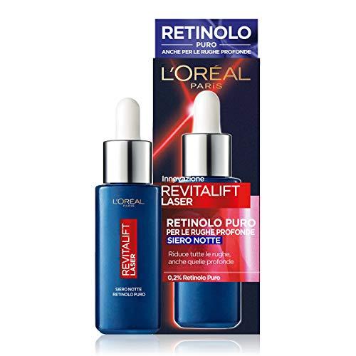 L'Oréal Paris Siero Notte Revitalift Laser X3, Azione Antirughe Anti-Età con Retinolo Puro, 30 ml