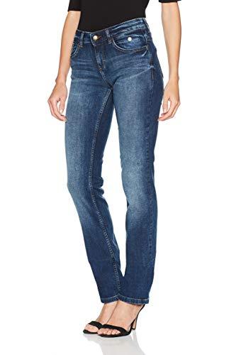 TOM TAILOR Damen Alexa Staight Jeans, Mid Stone Wash Denim, 26W / 32L