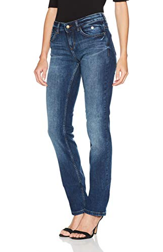 TOM TAILOR Damen Alexa Straight\'\' Jeans, Mid Stone Wash Denim, 31W / 34L