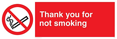 Viking Schilder ps6-l62–3m Thank You für nicht rauchen Zeichen, Kunststoff, 3mm starr, 200mm H x 600mm W