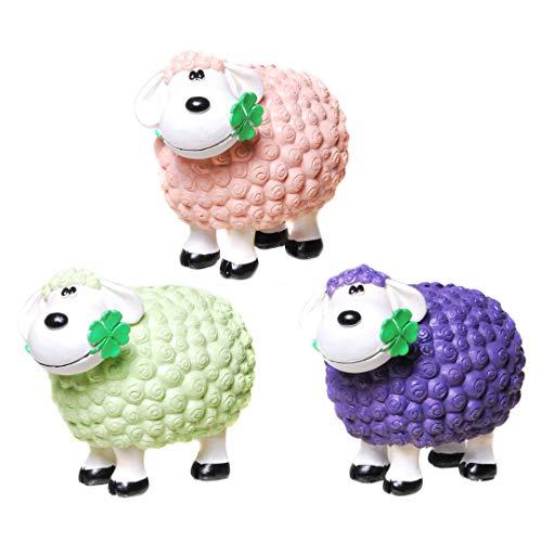 Topshop24you 1 x wunderschöne Spardose,Sparschwein,Sparbüchse Schaf mit Kleeblatt