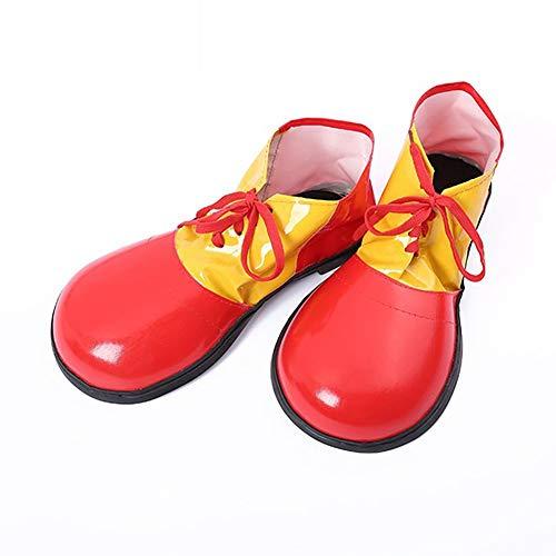 1PC Halloween Clown Schuhe Unisex Adult Jumbo Große Clown-Schuhe Halloween-Kostüme Zubehör Für Parteien Cosplay Wear (Rot)