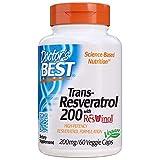 Doctor's Best 200 mg Trans-Resvératrol avec Resvinol 60 Gélules
