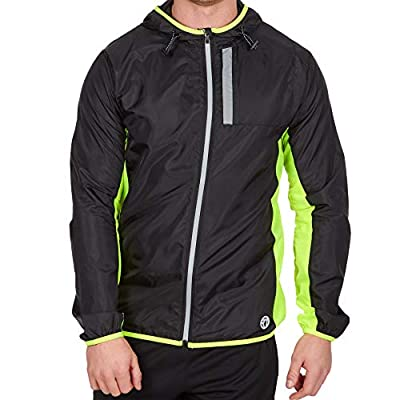 Red Tag Mens Quick Dry Lightweight Running Jacket with Hood