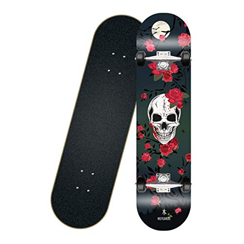 Great Price! HongTeng Professional Skateboards, Complete Skateboards for Beginners and Adults, Dance...