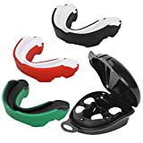 <span class='highlight'><span class='highlight'>Achort</span></span> Adult Gum Shield Mouth Guard, 3 Pack Professional Sports Mouthguard with Case for Boxing, Jujitsu, MMA, Football, Basketball, Hockey, Karate, Rugby and Other Contact Sports, Kids&Junior&Adult