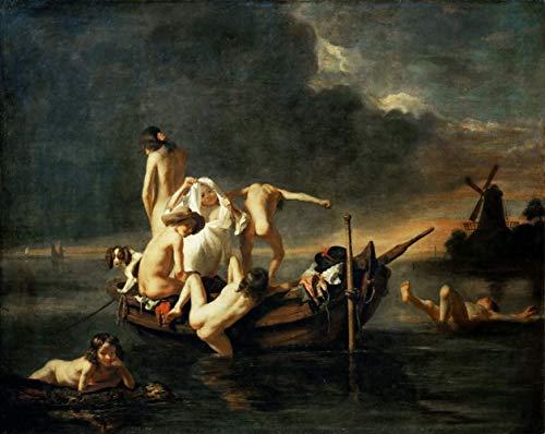 Nicolaes Maes The Bath Rompecabezas Juguete de Madera Adulto Familia Amigo DIY Challenge Decoración de Pared 1000 Pieza