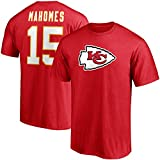 Fanatics Men's Patrick Mahomes Red Kansas City Chiefs Player Icon Name & Number T-Shirt
