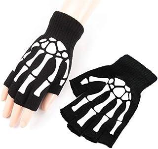 Unisex Halloween Skeleton Gloves for Women Men - Skull Bone Skeleton Gloves Halloween Accessories Skeleton Gloves Glow in ...