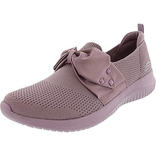 Skechers Women's Ultra Flex-Satin Night Lavender Ankle-High Fashion Sneaker - 9M