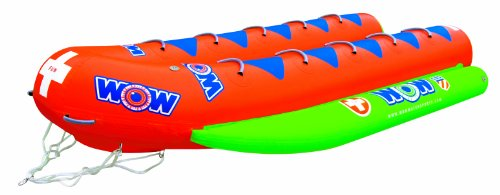 WOW World of Watersports Resort Sports Closed Bow Banana Boat 10 Rider Inflatable Towable Boat for Boating, 12-8040