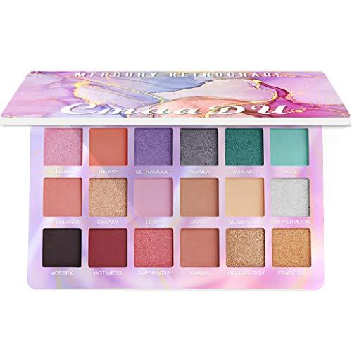 18 kleuren cosmetische poeder oogschaduw paletten make-up natuurlijke glans mat set 01#