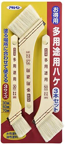 Asahipen OT-3P Paint Brush 3-Pack, Value Multi-Purpose Slanted Brushes