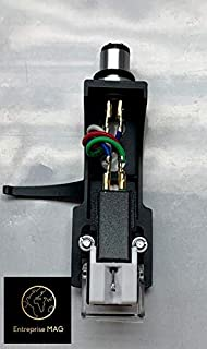 Cartridge and Stylus, needle with mounting bolts And Black Headshell for Technics SL-D1, SL-D1K, SL-D2, SL-D202, SL-D205, SL-D2K, SL-1400, SL-1401, SL-1410, SL-1500, SL-1510, SL-Q202, SL-Q2K, SL-Q3