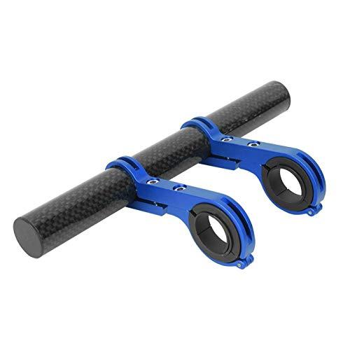 XINMYD Soporte de extensión para Manillar de Bicicleta, Soporte de extensión multifunción para Bicicleta Soporte de luz de Mesa de código Soporte de Linterna Soporte Doble Abrazadera(Azul)