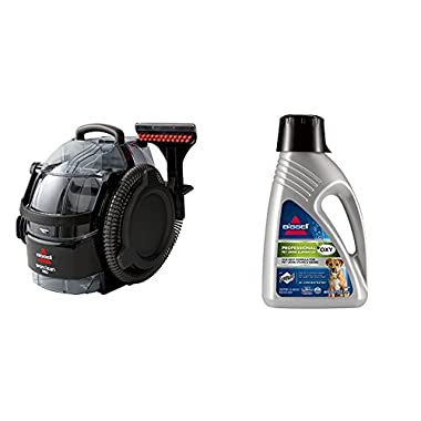 Bissell 3624 SpotClean Professional Portable Carpet Cleaner - Corded and 2X Professional Pet Urine Eliminator Full Size Machine Formula, 48 ounces, 67A5 Bundle