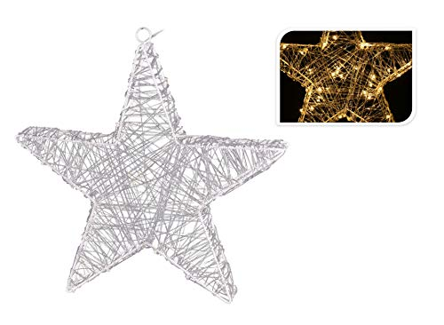 Kerstster Ø 40 cm timer 50 leds ster adventsster LED warmwitte batterij