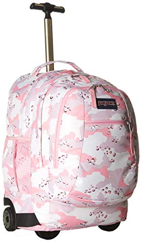JanSport Driver Rolling 15' Laptop Backpack - Wheeled Book Bag | Camo Crush