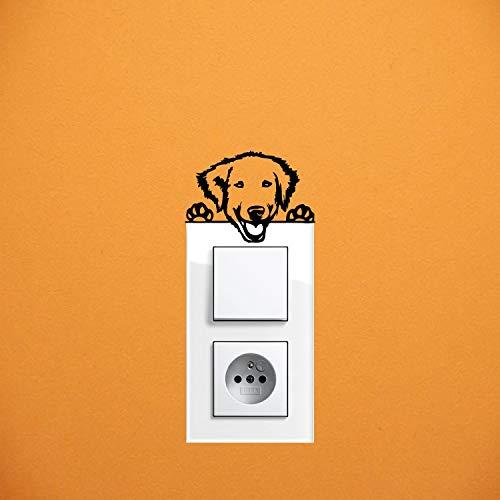 myrockshirt Adhesivo para interruptor de luz, diseño de perro Kuvasz, aprox. 10 cm, para coche, pintura, cristal y pared, adhesivo de calidad profesional