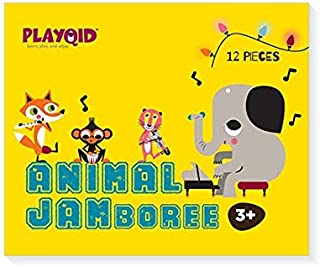 PLAYQID Animal Jamboree Jumbo Giant Jigsaw Floor Puzzle 12 Huge Piece Puzzle for kids age 3 and above (Also recommended fo...