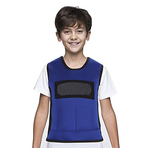 Weighted Vest for Kids with Sensory Issues(Ages 5-9, Medium) – Weighted Compression Vest for Children with Autism, ADHD, SPD, Sensory Overload, Includes 3lbs Removable Weights