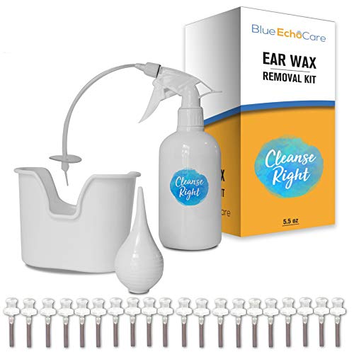 Cleanse Right - Ear Wax Removal Kit- 20 Disposable Tips! with Wash Basin and Syringe - Safe, Easy to Use - Cleaner Tool to Remove Ear Blockage - Irrigation Device for Adults and Kids