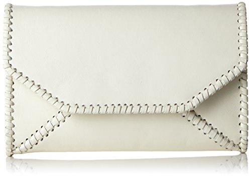kaviar gaucheBraided Envelope Clutch w. strap - Borsa a tracolla Donna, Bianco (Weiß (ivory/silver)), 23x14x3 cm (B x H x T)
