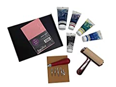 ULTIMATE BUNDLE – This block printing kit is designed for the true block printing artist or enthusiast.  This bundle has everything you need to make outstanding prints! GORGEOUS PRINTS – With this linoleum block printing kit you can create your own l...