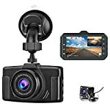 Dash Cam for Cars Front and Rear CHORTAU Dual Dash Cam 3 inch