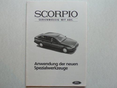 Ford Scorpio - Original Ford – Anwendung der neuen Spezialwerkzeuge