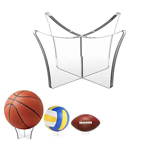Supporto per Pallone da Calcio, 2 Pezzi Supporto per Sfera per Pallavolo, Display Porta Pallacanestro, Espositore per Pallone da Calcio, per Display da Basket Pallavolo Pallavolo Palla da Bowling