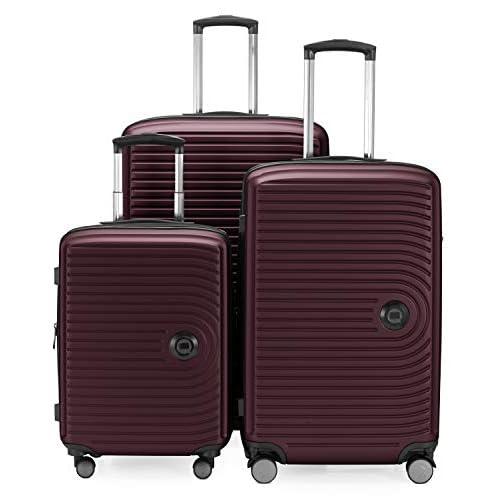 Hauptstadtkoffer Set di valigie 3Er Set Burgundy