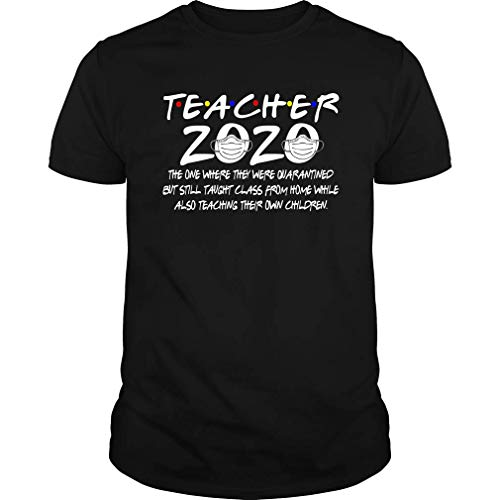 Teacher 2020 Teach and Quarantined Tee Shirt (Unisex T-Shirt;Black;XXXXL)
