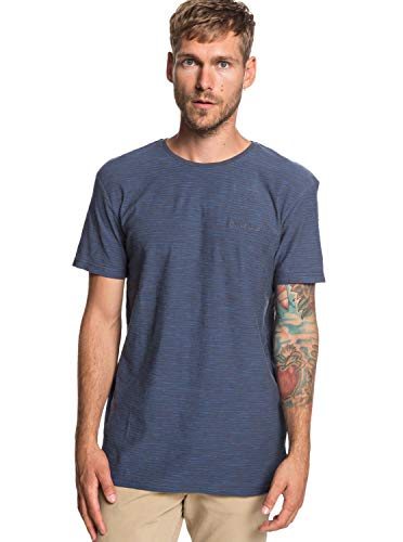Quiksilver Kentin Kttp Krq3 T-Shirt Homme, Ombre Blue/Stripe, FR : S (Taille Fabricant : S)