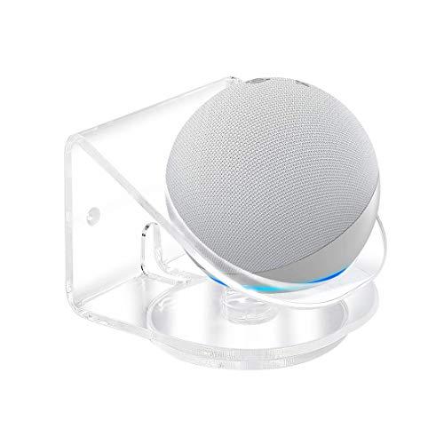 Kovake Supporto Staffa di Montaggio a Parete per Nuovo Amazon Echo DOT (4ª Generazione) Altoparlante Intelligente | Supporto in Acrilico Trasparente