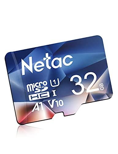 Netac Micro SD Card 32GB?MicroSDHC Card 32GB Memory Card?UHS-I, 90MB/s, 600X, U1, C10, V10, A1, FAT32 TF Card Micro SD Card