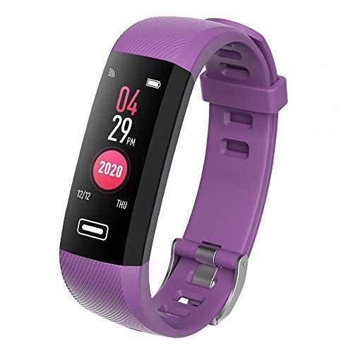 TEZER Fitness Tracker Kinder Damen Fitness Armband mit Schrittzähler Pulsmesser Schlafanalyse Kalorienzähler Wasserdicht IP67 Smartwatch Sportuhr Fitness Uhr für Huawei IOS Android (Lila)
