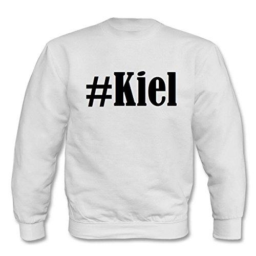Reifen-Markt Sweatshirt Damen #Kiel Größe S Farbe Weiss Druck Schwarz