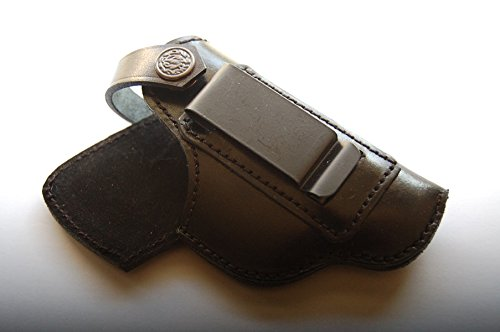 cal38B950 Handcrafted Leather iwb Holster for Beretta 950 25acp (Black)