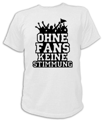 Artdiktat T-Shirt Ohne Fans Keine Stimmung Piktogramm Unisex, Größe XL, weiß