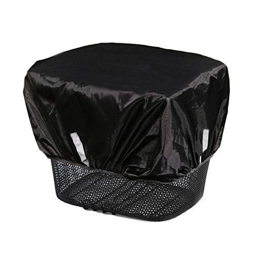 Frelaxy Regenschutz Abdeckung für Fahrradkorb, Wasserdicht Fahrradkorb Regenhülle mit Reflektorstreifen (Schwarz, Einheitsgröße)