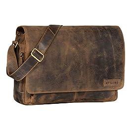 STILORD 'Rick' Vintage Sac en Bandoulière Cuir Unisexe Design Sac pour Ordinateurs Portables 15.6 Pouces Laptop…