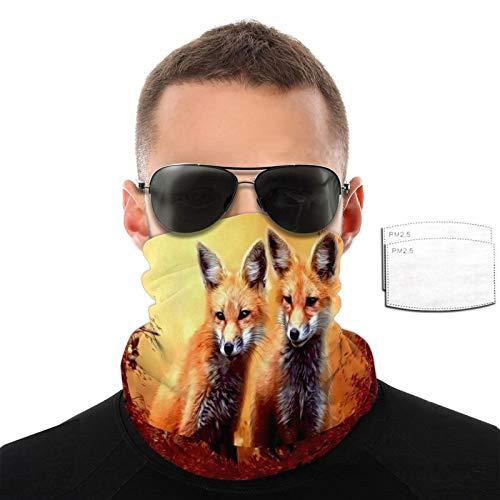 Fantasy Two Foxes - Toalla para la cara para hombre y mujer, resistente al viento, transpirable, variedad