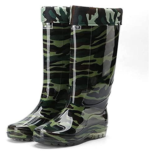 AMDHZ Bottes de Pluie pour Femmes Bottes de Pluie en PVC de Camouflage pour Hommes Bottes de Pluie imperméables antidérapantes antidérapantes Bottes de Jardinage