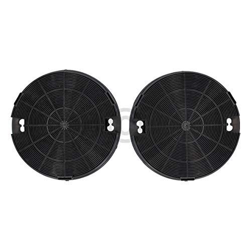 Lot de 2 filtres à charbon DL-pro pour hotte Whirlpool Bauknecht 481249038013 AMC912 AEG Electrolux 9029793586 Type 29