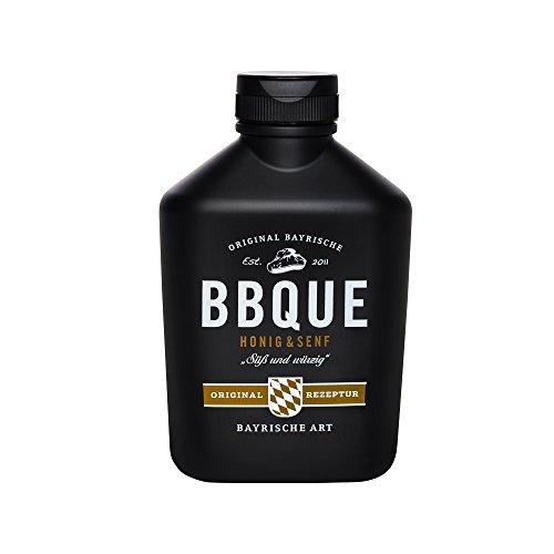 BBQUE Bayrische Barbecue Sauce Honig & Senf - 400ml – würzig-süß – regionale Produktion